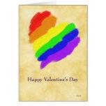 Corazón del arco iris: Tarjetas del día de San