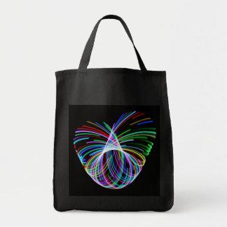 Corazón del aro bolsa tela para la compra