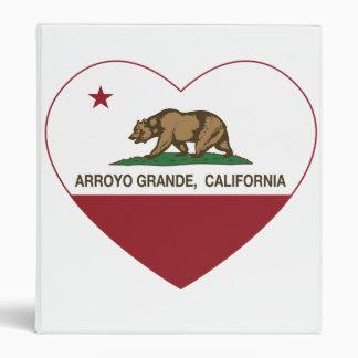 """corazón del arroyo de la bandera de California Carpeta 1"""""""
