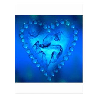 corazón del arte de la llama tarjetas postales