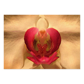 Corazón del ATC de la orquídea Plantillas De Tarjetas De Visita