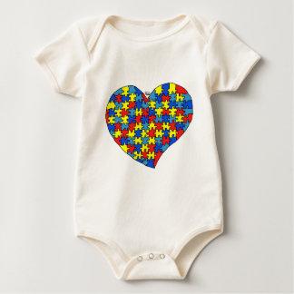 Corazón del autismo body para bebé