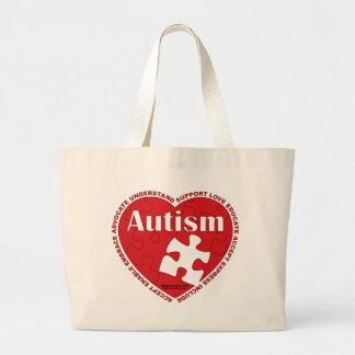 Corazón del autismo bolsa