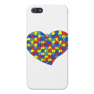 Corazón del autismo iPhone 5 funda