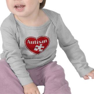 Corazón del autismo camiseta