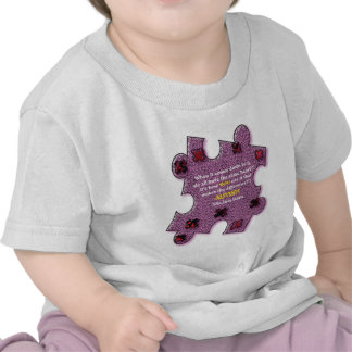 Corazón del autismo camisetas