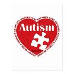 Corazón del autismo postal