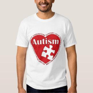 Corazón del autismo remera