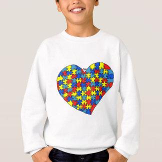 Corazón del autismo sudadera