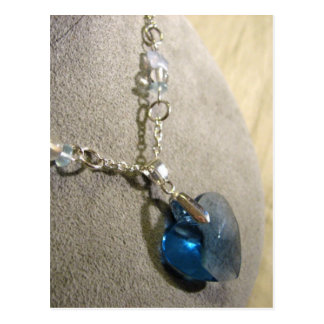 Corazón del azul de Krystals Postal