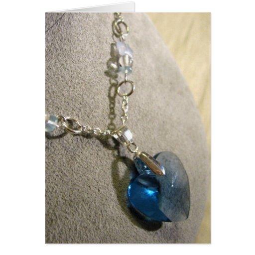 Corazón del azul de Krystals Tarjeta De Felicitación