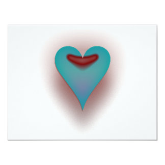Corazón del azul de la aguamarina invitaciones personalizada