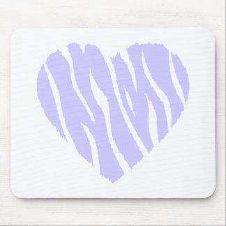 Corazón del azul de la lavanda alfombrilla de ratones