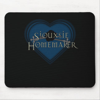 Corazón del azul del casero de Siouxsie Alfombrilla De Ratones