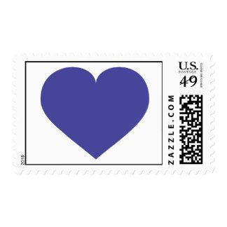 Corazón del azul real - amor azul timbre postal