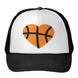 corazón del baloncesto gorra