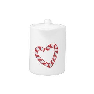 Corazón del bastón de caramelo