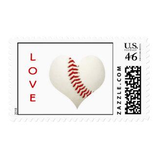 Corazón del béisbol del amor