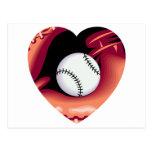 Corazón del béisbol postal