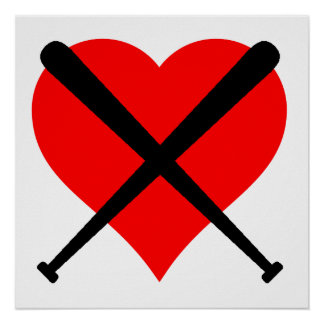 Corazón del béisbol póster