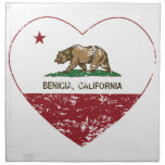 corazón del benecia de la bandera de California ap Servilleta De Papel