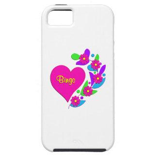 Corazón del bingo iPhone 5 fundas