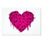 corazón del bootstomp invitación 8,9 x 12,7 cm