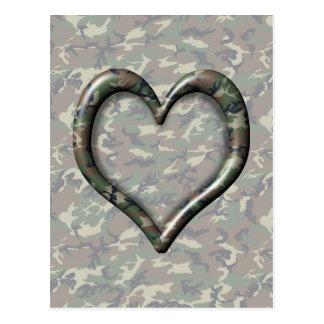 Corazón del bosque del arbolado de Cauflage en el  Tarjeta Postal