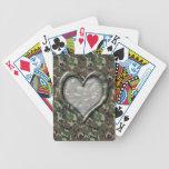 Corazón del bosque del arbolado del camuflaje en C Barajas De Cartas