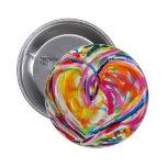 Corazón del botón de la alegría o del Pin