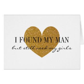 Corazón del brillo del oro usted será mis tarjetas