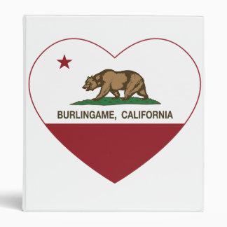 """corazón del burlingame de la bandera de California Carpeta 1"""""""