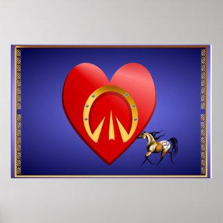 Corazón del caballo n posters