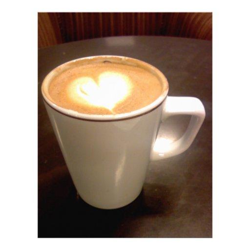 Corazón del café membrete a diseño
