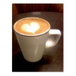 Corazón del café postal