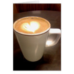 Corazón del café tarjeta