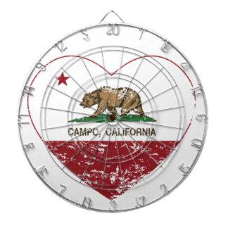corazón del campo de la bandera de California apen Tabla Dardos