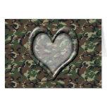 Corazón del camuflaje - arbolado tarjeta