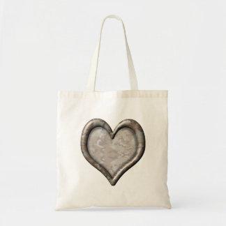 Corazón del camuflaje bolsa de mano