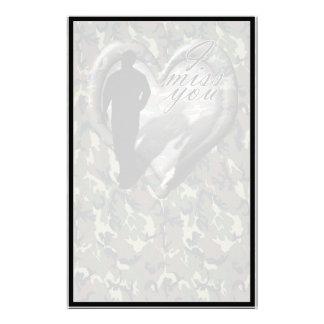 Corazón del camuflaje - hombre que falta del hombr papeleria