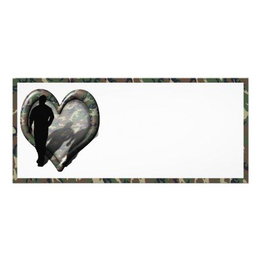 Corazón del camuflaje - hombre que falta del hombr lonas publicitarias