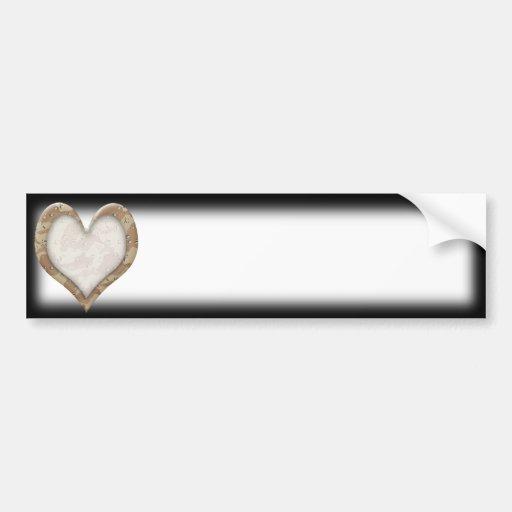 Corazón del camuflaje pegatina para auto