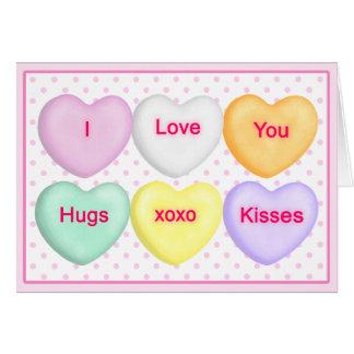 Corazón del caramelo, corazones de la conversación tarjetón