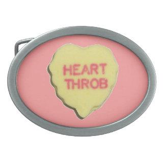 Corazón del caramelo de la tarjeta del día de San  Hebilla Cinturón Oval