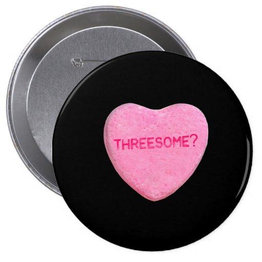 Corazón del caramelo del Threesome Pins