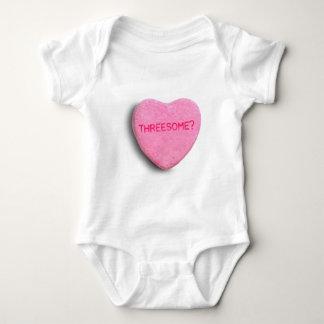 Corazón del caramelo del Threesome Playera