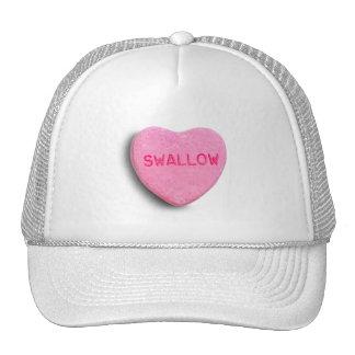 Corazón del caramelo del trago gorras