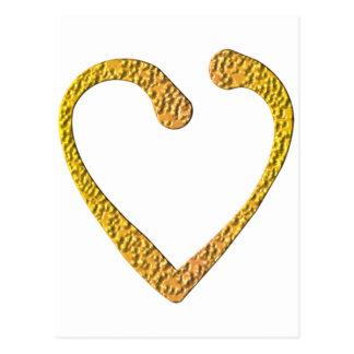 Corazón del caramelo postal