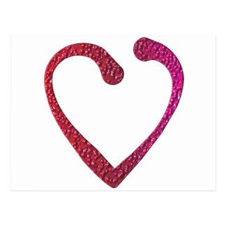 Corazón del caramelo tarjeta postal
