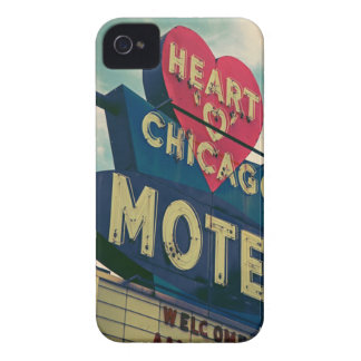Corazón del caso del iPhone del motel de Chicago Case-Mate iPhone 4 Cárcasas